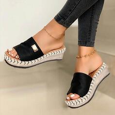 Women's Suede Wedge Heel Sandals Wedges Peep Toe Slippers Heels With Others shoes
