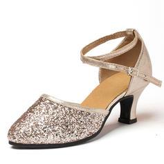 Women's Ballroom Heels Leatherette Sparkling Glitter Modern