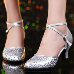 Women's Ballroom Swing Heels Leatherette Latin