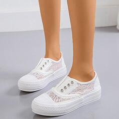 Women's Lace PU With Stitching Lace shoes