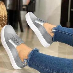Women's Denim Flat Heel Flats shoes
