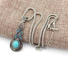 Boho Alloy With Imitation Stones Women's Necklaces
