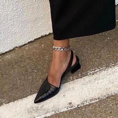 Women's PU Chunky Heel Pointed Toe With Animal Print shoes