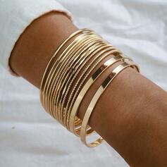 Simple Delicate No Buckle Alloy With Minimalist Women's Ladies' Unisex Charm Bracelets Bolo Bracelets