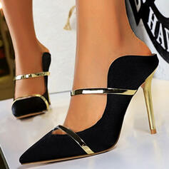 Women's Satin Stiletto Heel Pumps Heels With Splice Color shoes