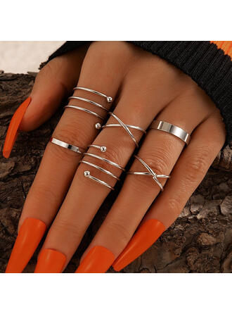 Fashionable Alloy Women's Rings 6 PCS