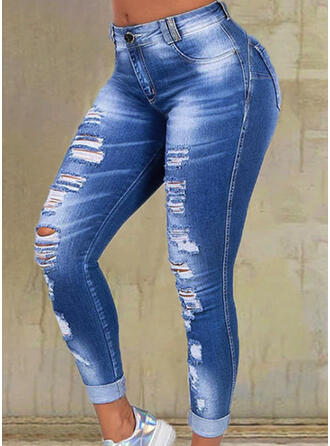 Plus Size Ripped Skinny Denim Denim & Jeans