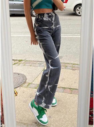 Tie Dye Denim Long Casual Denim & Jeans