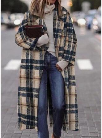 Long Sleeves Plaid Cardigans