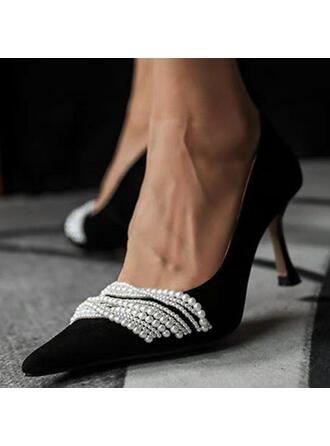 Women's PU Kitten Heel Pumps With Imitation Pearl shoes