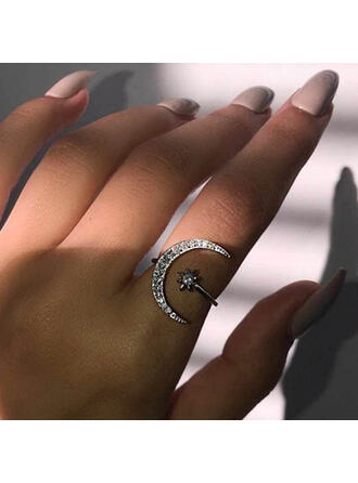 Attractive Charming Elegant Artistic Delicate Alloy With Minimalist Ladies' Rings