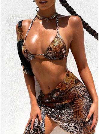 Leopard Strap Sexy Bikinis Swimsuits