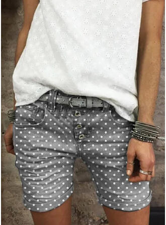 PolkaDot Plus Size Casual Vintage Shorts