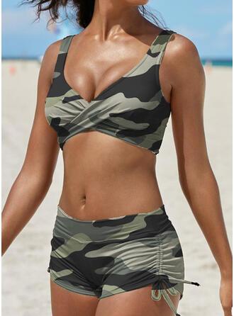 Stripe Strap V-Neck Boho Amazing Bikinis Swimsuits