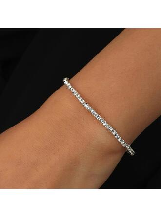 Fashionable Alloy Rhinestones With Rhinestone Women's Bracelets 1 PC
