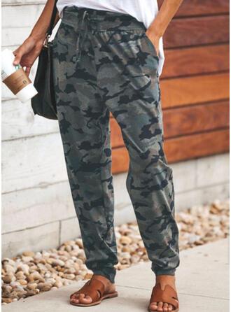 Print Casual Long Pants
