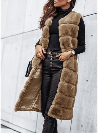 Sleeveless Faux Fur Coats