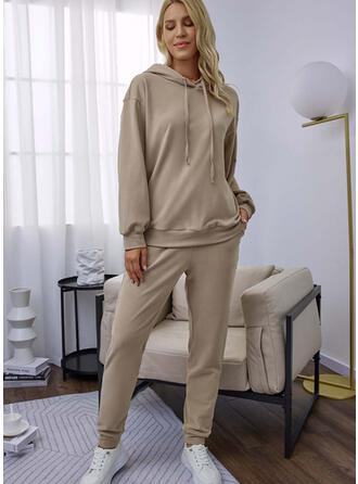 Solid Long Casual Pants