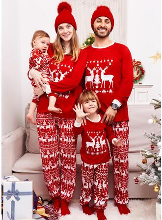 Reindeer Letter Family Matching Christmas Pajamas
