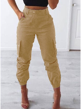 Pockets Shirred Plus Size Long Casual Tribal Pants