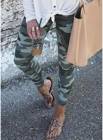 Camouflage Cropped Sexy Vintage Plus Size Leggings