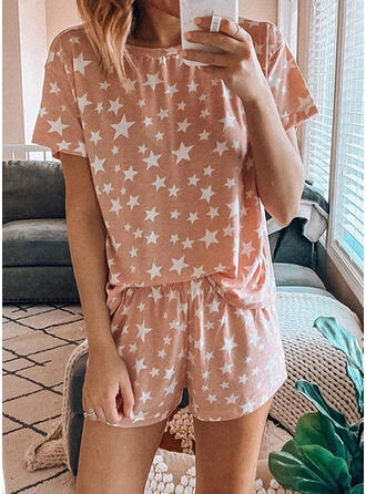 Print Shirred Casual Print Suits