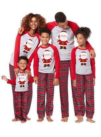 Santa Plaid Family Matching Christmas Pajamas
