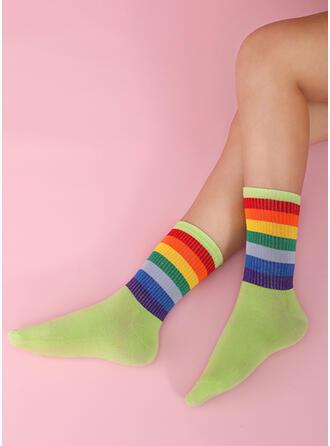 Color Block Colorful/Crew Socks Socks