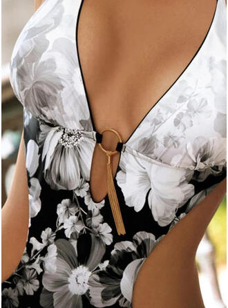 Print Halter Sexy One-piece Swimsuits